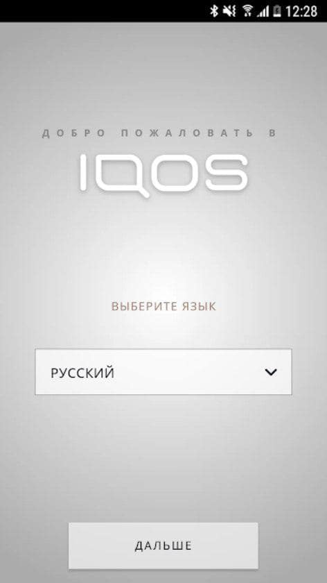 IQOS Connect Язык