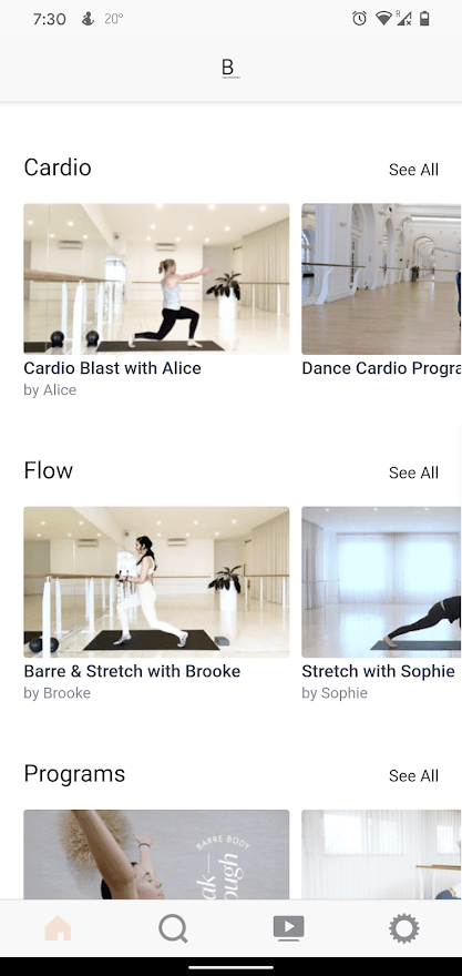Barre Body Online Sessions