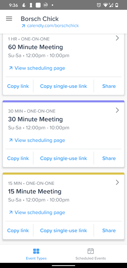 Calendly Events