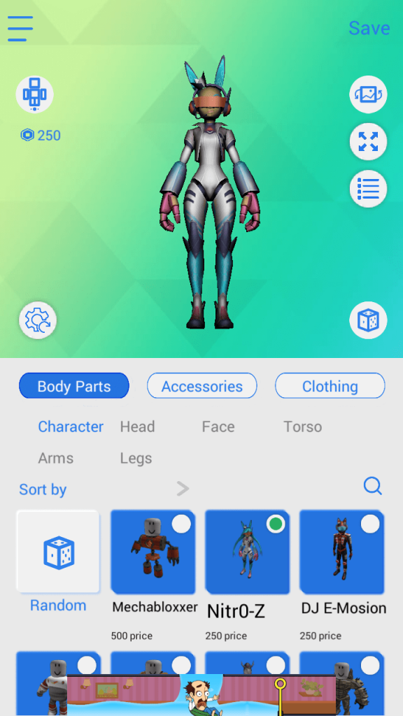 MOD MASTER for Roblox Character