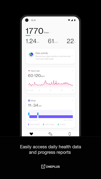 OnePlus Health Interface
