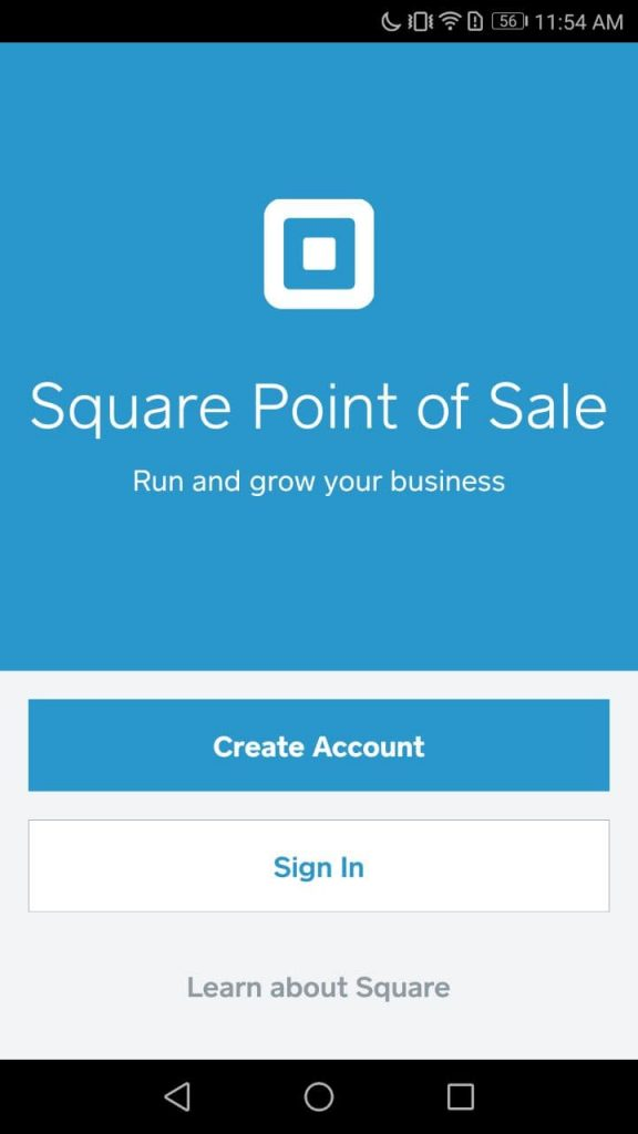 Square Point of Sale Sign In