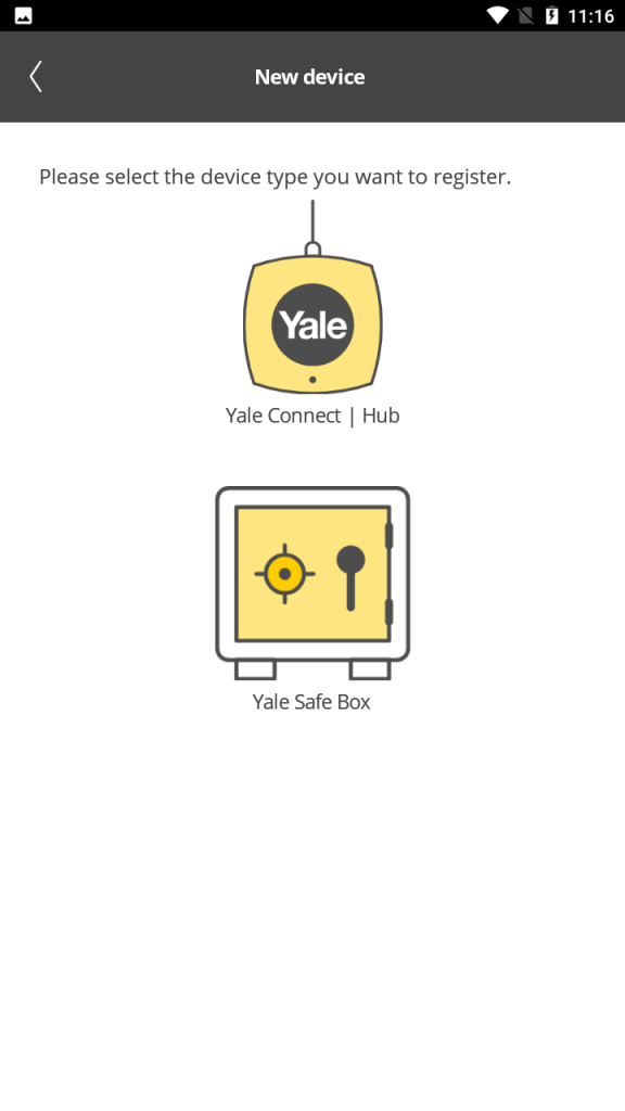 Yale Connect New Device