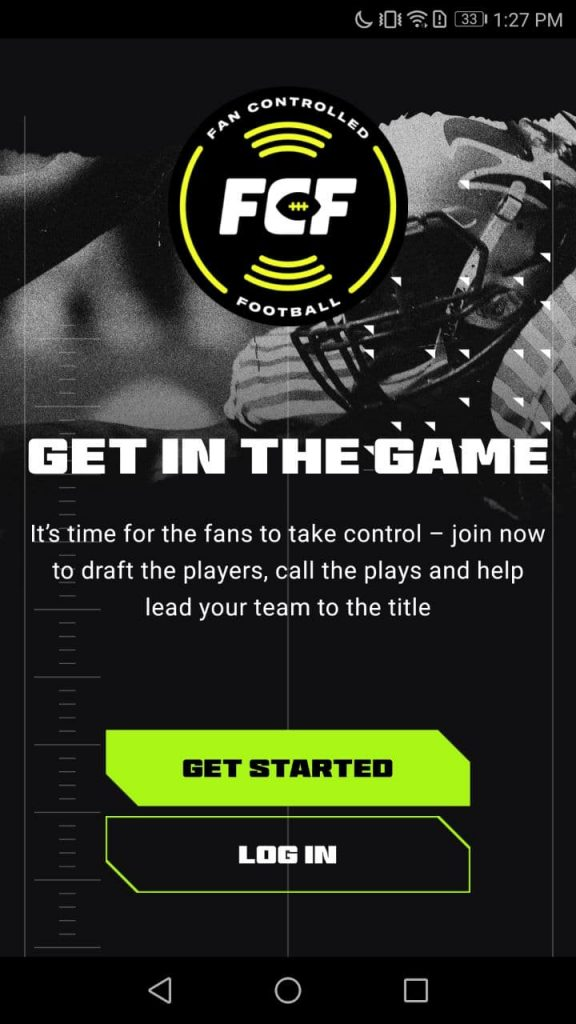 Fan Controlled Football Sign Up