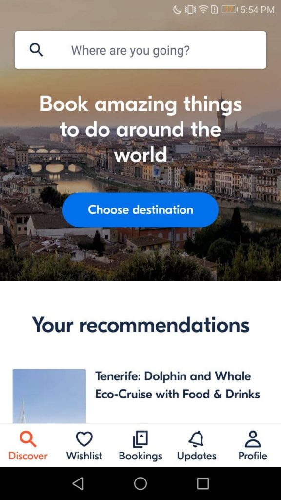 GetYourGuide Discover