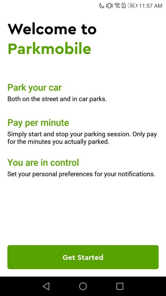 ParkMobile Welcome