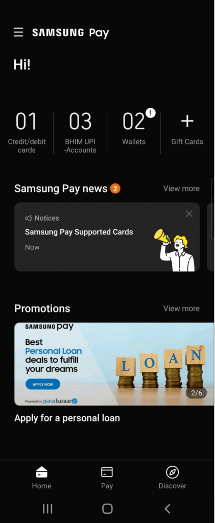 Samsung Pay Home