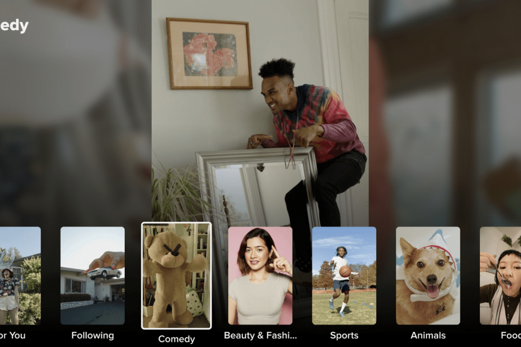 TikTok for Android TV Browse