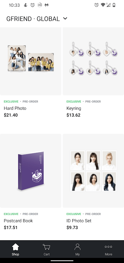 Weverse Shop Assortment